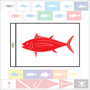 Fish Capture Flags - Albacore Tuna Capture Flag - SunDot Fish Flags