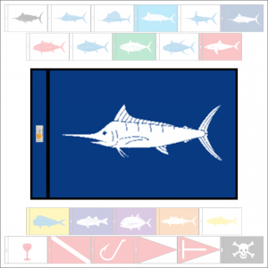 Fish Capture Flags - Blue Marlin Capture Flag - SunDot Fish Flags