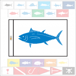 Fish Capture Flags - Bluefin Tuna Capture Flag - SunDot Fish Flags
