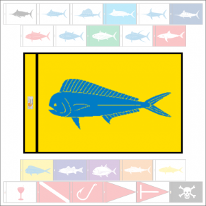 Fish Capture Flags - Mahi-Mahi Capture Flag - SunDot Fish Flags