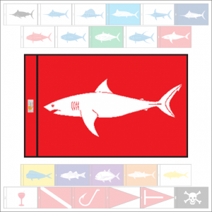 Fish Capture Flags - Shark (Manó) Capture Flag - SunDot Fish Flags