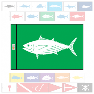 Fish Capture Flags - Skipjack Tuna Capture Flag - SunDot Fish Flags