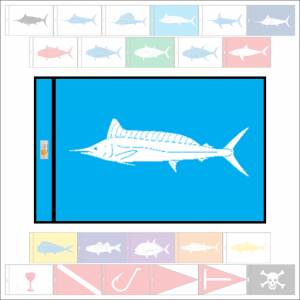 Fish Capture Flags - Spearfish Capture Flag - SunDot Fish Flags
