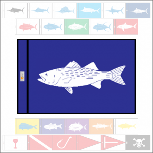 Fish Capture Flags - Stripped Bass Capture Flag - SunDot Fish Flags