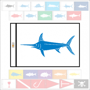 Fish Capture Flags - Swordfish Capture Flag - SunDot Fish Flags