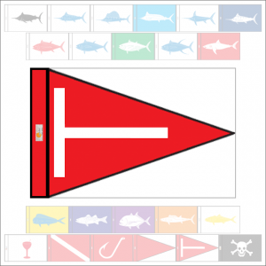 Fish Capture Flags - Tag & Release Capture Flag - SunDot Fish Flags