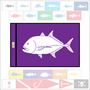 Fish Capture Flags - Trevally (Ulua) Capture Flag - SunDot Fish Flags