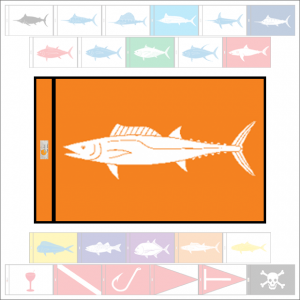 Fish Capture Flags - Wahoo (Ono) Capture Flag - SunDot Fish Flags