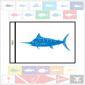 Fish Capture Flags - White Marlin Capture Flag - SunDot Fish Flags