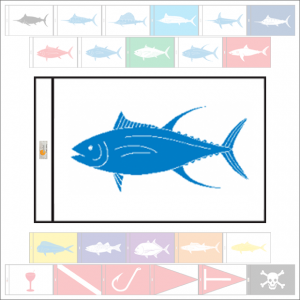 Fish Capture Flags - Yellowfin Tuna Capture Flag - SunDot Fish Flags