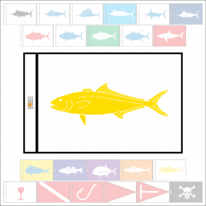 Fish Capture Flags - Yellowtail Capture Flag - SunDot Fish Flags
