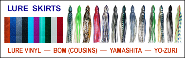 Fishing Lure Skirts – Big Game Sport Fishing Lure Skirts for Trolling Lures